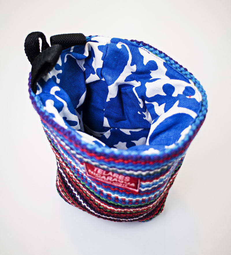 Climber's chalk bag - blue/red
