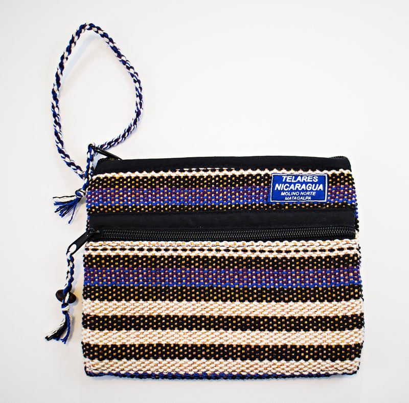 Small makeup bag -blue/black/purple