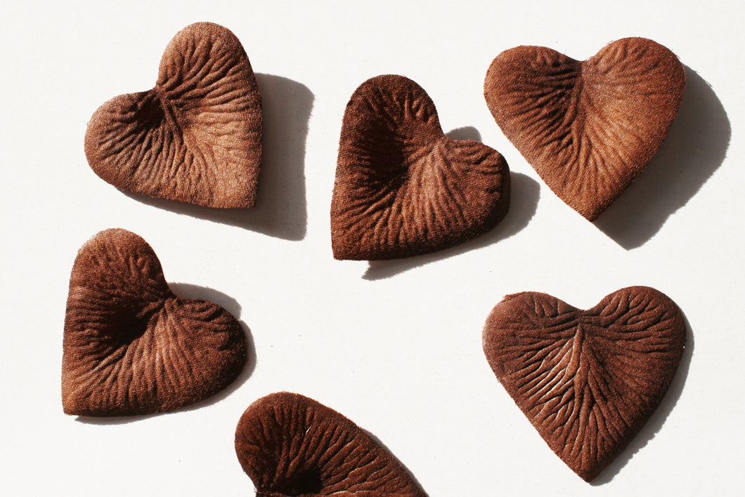 Earth Heart Shaped Silk Rose Petals