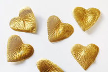 Load image into Gallery viewer, Gold Heart Shaped Silk Rose Petals