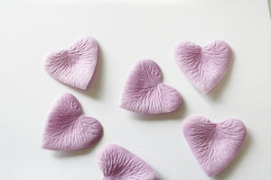 Light Purple Heart Shaped Silk Rose Petals