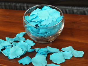 Aqua Silk Rose Petals, Value Pack 1000 Petals