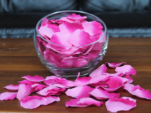 Berry Silk Rose Petals, Value Pack 1000 Petals