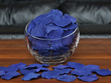 Load image into Gallery viewer, Blue Silk Rose Petals, Value Pack 1000 Petals