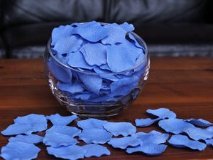 Cornflower Silk Rose Petals, 100 petals