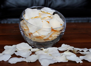 Cream Silk Rose Petals, 100 petals