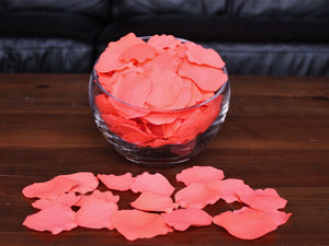 Flamingo Silk Rose Petals, 100 petals