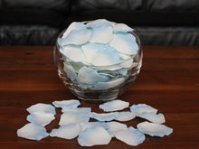 Load image into Gallery viewer, Ivory/Blue Silk Rose Petals, 100 petals