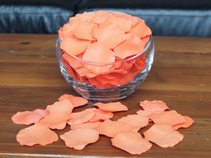 Melon Silk Rose Petals, 100 petals