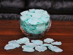 Mint Silk Rose Petals, 100 petals
