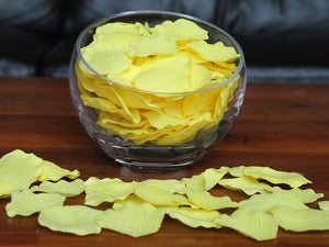 Pale Yellow Silk Rose Petals, Value Pack 1000 Petals