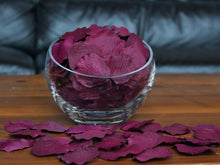 Load image into Gallery viewer, Plum Silk Rose Petals, 100 petals
