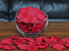 Load image into Gallery viewer, Floating Red Silk Rose Petals, 100 petals