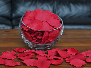 Red Silk Rose Petals, 100 petals per bag