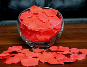 Salmon Silk Rose Petals, Value Pack 1000 Petals