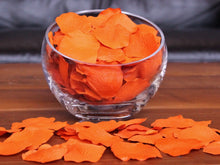 Load image into Gallery viewer, Tangerine Silk Rose Petals, 100 petals