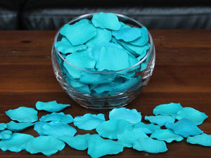 Teal Silk Rose Petals, Value Pack 1000 Petals