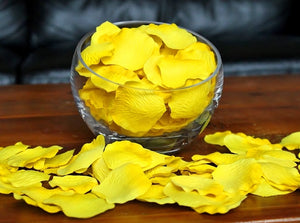 Yellow Silk Rose Petals, Value Pack 1000 Petals