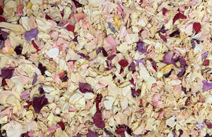 Rose Petal Confetti, 1 quart bag