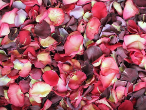 Rose Petals, Real Red, Pink, and Purple Petals for Pathways, 70 cups