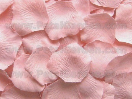 Floating Blush Silk Rose Petals, 100 petals