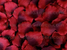 Load image into Gallery viewer, Floating Burgundy Silk Rose Petals, 100 petals