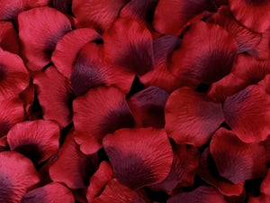 Burgundy Silk Rose Petals, 100 petals