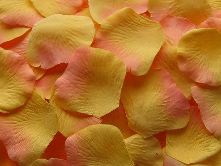 Citrus Silk Rose Petals, 100 petals