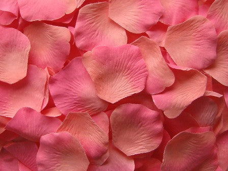 Coral Silk Rose Petals, Value Pack 1000 Petals