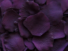 Load image into Gallery viewer, Eggplant Silk Rose Petals, Value Pack 1000 Petals