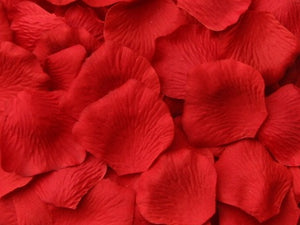 Fireball Silk Rose Petals, 100 petals