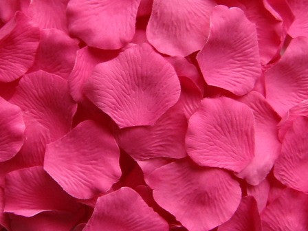 Hot Pink Silk Rose Petals, Value Pack 1000 Petals