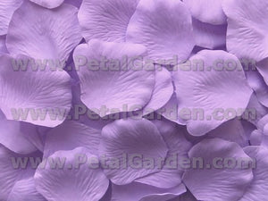 Floating Lavender Silk Rose Petals, 100 petals
