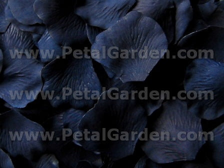 Floating Navy Silk Rose Petals, 100 petals