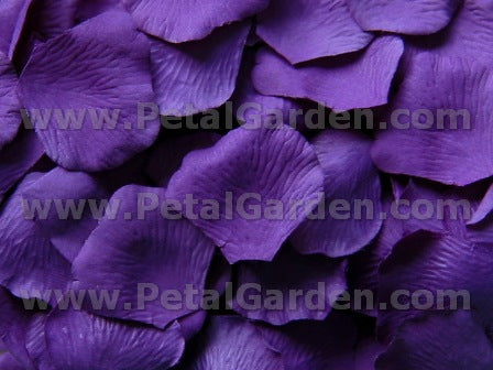 Floating Purple Silk Rose Petals, 100 petals