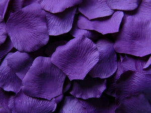 Purple Silk Rose Petals, Value Pack 1000 Petals