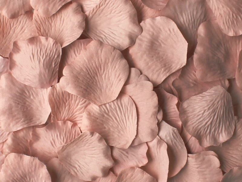 Rose Quartz Silk Rose Petals, 100 petals