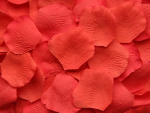 Salmon Silk Rose Petals, 100 petals