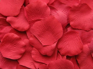 Strawberry Silk Rose Petals, 100 petals