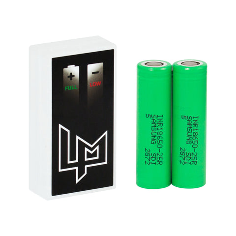 Samsung 25r 2500mah 20Amp Vape Batteries in case