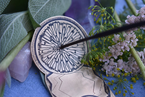 Brass Dandelion Incense Holder