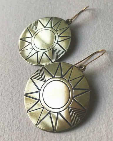 SUNNE medallion earrings