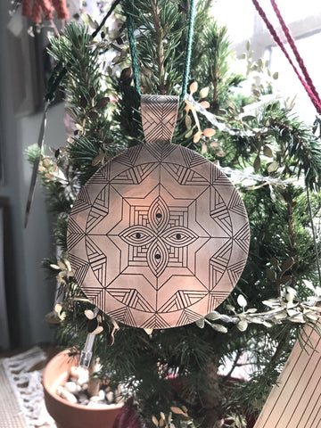 etched brass MIND'S EYE ornaments / sun catchers