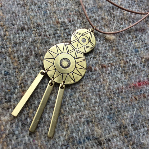 SUNNE ray pendant necklace