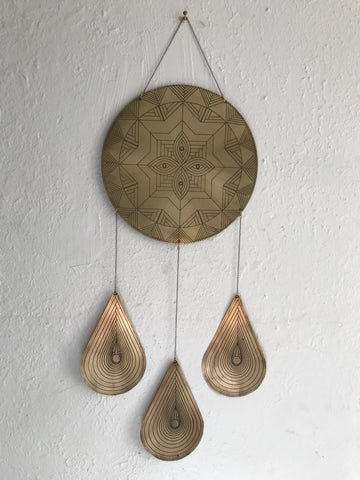 Etched Brass Mind's Eye wall hanging