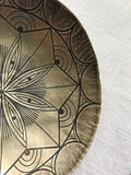 Etched and Hammered Brass MInd's Eye Smudge Dish