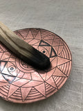 Etched and Hammered Copper AJNA Smudge Dish