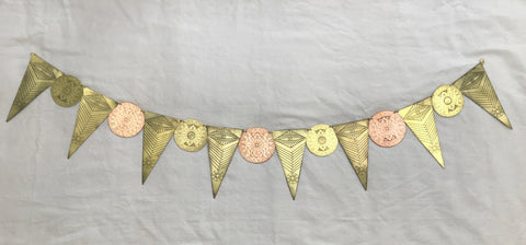 Etched Metal Ajna Garland Wall Hanging