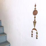 Long and Narrow Etched Brass and Copper AJNA Wall Hanging