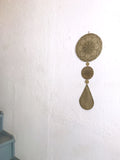 Mind's Eye with Teardrop Etched Brass Wall Hanging